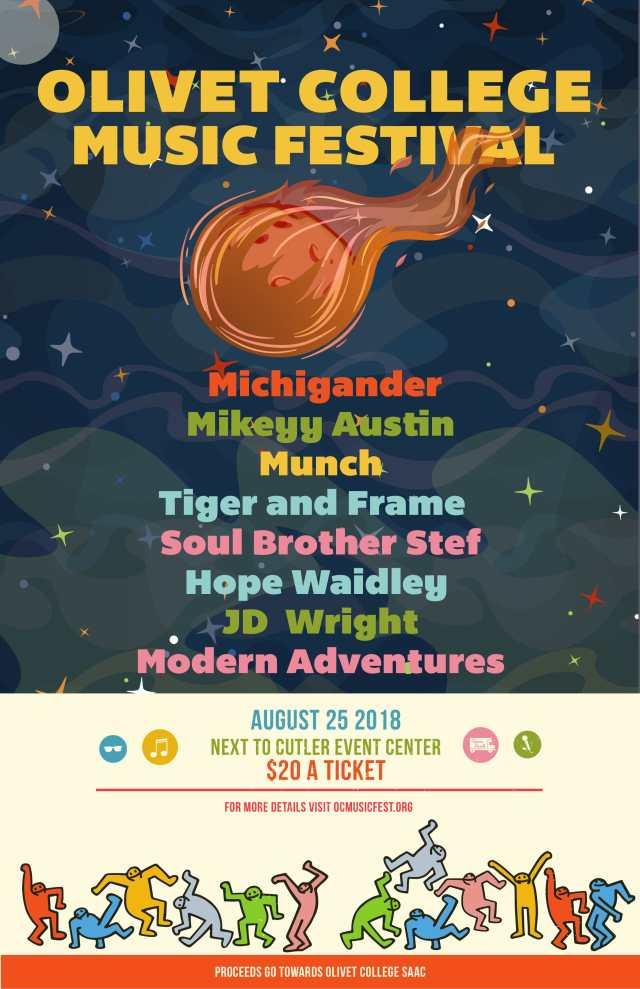 Olivet College Music Fest Poster
